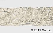 Shaded Relief Panoramic Map of Kutkai