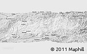 Silver Style Panoramic Map of Kutkai