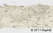 Shaded Relief Panoramic Map of Kyaukme