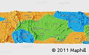Political Panoramic Map of Lai-Hka
