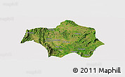 Satellite Panoramic Map of Lai-Hka, cropped outside