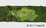 Satellite Panoramic Map of Lai-Hka, darken