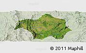 Satellite Panoramic Map of Lai-Hka, lighten