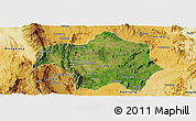 Satellite Panoramic Map of Lai-Hka, physical outside
