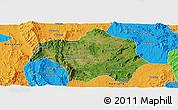 Satellite Panoramic Map of Lai-Hka, political outside