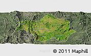 Satellite Panoramic Map of Lai-Hka, semi-desaturated