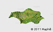 Satellite Panoramic Map of Lai-Hka, single color outside