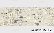 Shaded Relief Panoramic Map of Lai-Hka