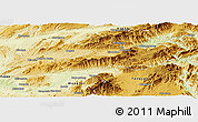 Physical Panoramic Map of Lashio