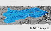 Political Panoramic Map of Lashio, desaturated