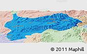 Political Panoramic Map of Lashio, lighten