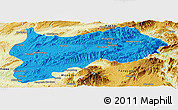 Political Panoramic Map of Lashio, physical outside