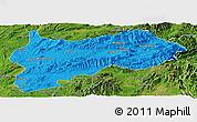 Political Panoramic Map of Lashio, satellite outside