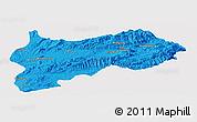 Political Panoramic Map of Lashio, single color outside