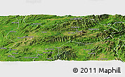 Satellite Panoramic Map of Lashio