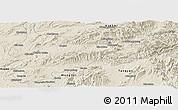 Shaded Relief Panoramic Map of Lashio