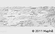 Silver Style Panoramic Map of Lashio