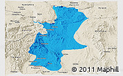 Political Panoramic Map of Lawksawk, shaded relief outside