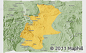 Savanna Style Panoramic Map of Lawksawk