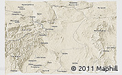 Shaded Relief Panoramic Map of Lawksawk