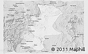 Silver Style Panoramic Map of Lawksawk