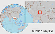 Gray Location Map of Loi Lem