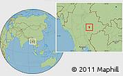 Savanna Style Location Map of Loi Lem