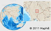 Shaded Relief Location Map of Loi Lem