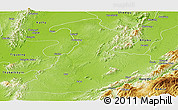 Physical Panoramic Map of Mabein