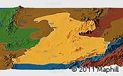 Political Panoramic Map of Mabein, darken