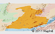 Political Panoramic Map of Mabein, lighten