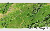 Satellite Panoramic Map of Mabein