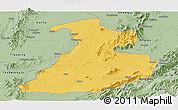 Savanna Style Panoramic Map of Mabein