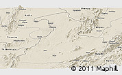 Shaded Relief Panoramic Map of Mabein
