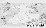 Silver Style Panoramic Map of Mabein