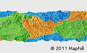 Political Panoramic Map of Man Hpang