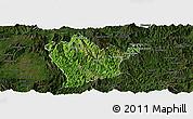 Satellite Panoramic Map of Man Hpang, darken
