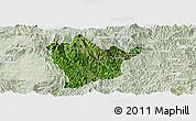 Satellite Panoramic Map of Man Hpang, lighten