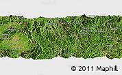 Satellite Panoramic Map of Man Hpang