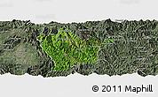 Satellite Panoramic Map of Man Hpang, semi-desaturated