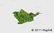 Satellite Panoramic Map of Man Hpang, single color outside