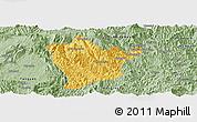 Savanna Style Panoramic Map of Man Hpang