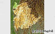 Physical Map of Shan, darken