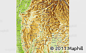 Physical Map of Shan