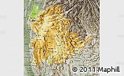 Physical Map of Shan, semi-desaturated