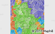 Political Shades Map of Shan