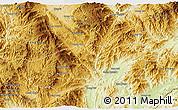 Physical 3D Map of Mong Hpayak