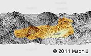 Physical Panoramic Map of Mong Hpayak, desaturated