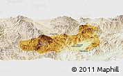 Physical Panoramic Map of Mong Hpayak, lighten