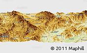Physical Panoramic Map of Mong Hpayak